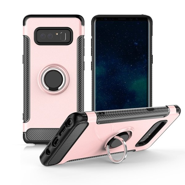 For G6 TPU+Acrylic Case Magnetic Car Holder Sticky Metal Finger Ring Cover 360 Rotate Stand ARMOR Carbon Fibre HOT