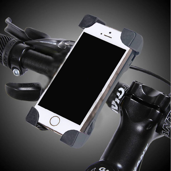 "Universal Motorcycle Bike Bicycle Phone Holder Mount Stand For iphone Samsung Xiaomi Nokia Huawei Lenovo 3.5-7"" Mobile Phones"