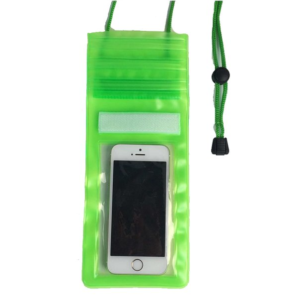 Transparent PVC Waterproof phone bag for iphone 5 6 7 Underwater zipper pocket case cover Travel pouches with Neck lanyard