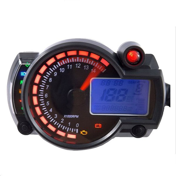 Hot Selling New 14000rpm Modern RX2N Similar LCD Digital Motorcycle Odometer Speedometer Adjustable MAX 299KM/H