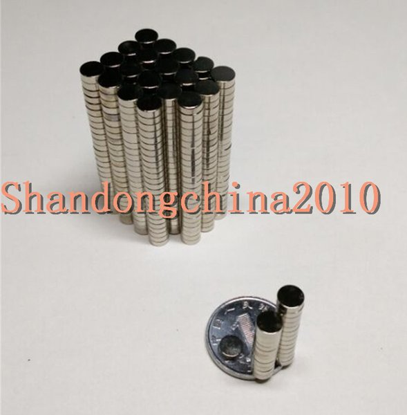 Wholesale - In Stock 200pcs Strong Round NdFeB Magnets Dia 5x1.5mm N35 Rare Earth Neodymium Permanent Craft/DIY Magnet Free shipping