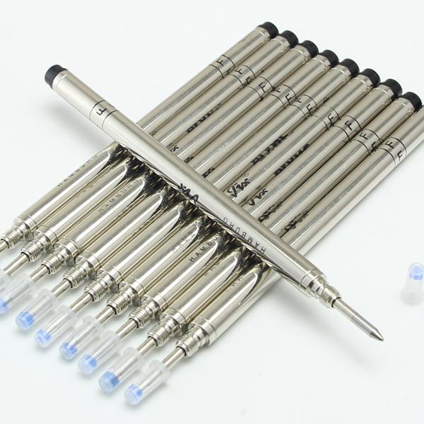 Großhandel 10 Stücke MB marke Hohe Qualität Schwarz Farbe M / F tinte roller kugelschreiber Refill Pen liefert zubehör kostenloser versand