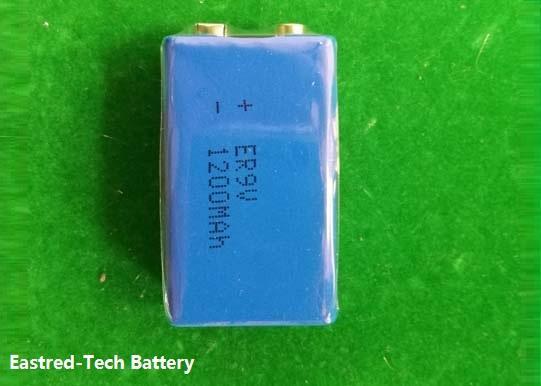 200pcs/lot ER9V lithium battery 1200mAh ER 9V for smoke detectors alarm