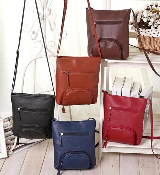 Mode Umhängetasche Retro Messenger Bag Frauen Umhängetasche Handtasche Satchel Taschen Handy Taschen Geldbeutel Kosmetiktaschen 5 Farbe KKA2083