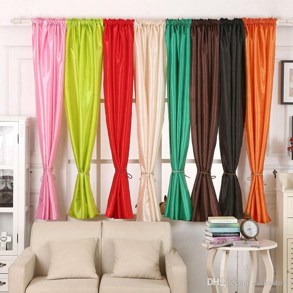 1Pc Valances Colors Floral Tulle Voile Door Window Curtain Drape Panel Sheer Curtains E00636 FASH
