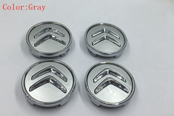 best selling Car Styling 4Pcs lot 60mm Citroen Wheel Center Caps Wheel Center Emblem Badge Fits C2 C3 C4 C5 C6 C-Quatre Hub Caps Emblems Badge
