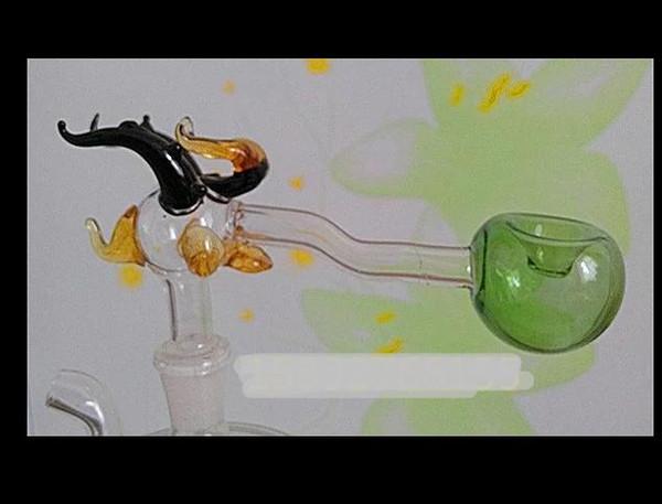 Leading recessed pot --glass hookah smoking pipe Glass bongs - oil rigs glass bongs glass hookah smoking pipe - vape- vaporizer