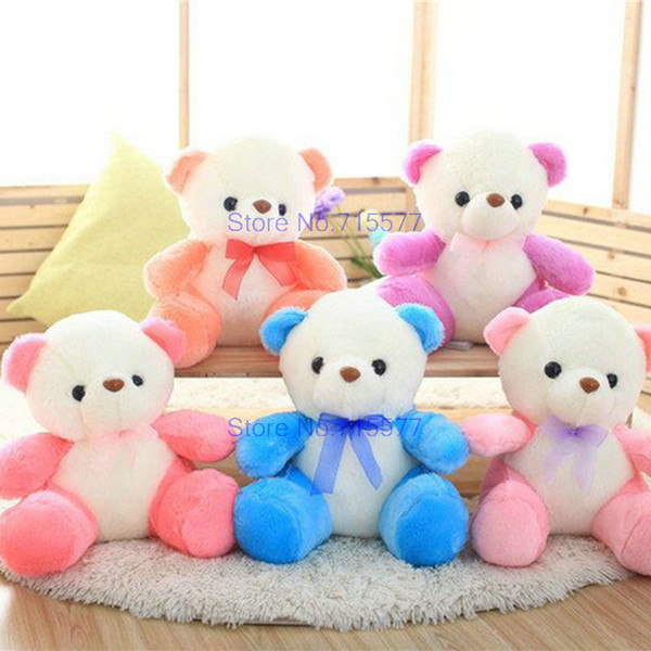 35cm new style cartoon colorful Bear Plush Toys on sale bear cloth doll Children's day gift 5 colors