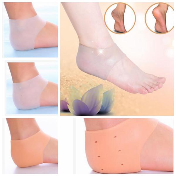 Ayak bakımı çorap Silikon Nemlendirici Jel Topuk Çorap delik ile Çatlak Ayak Cilt Bakımı Koruyucular KKA2887