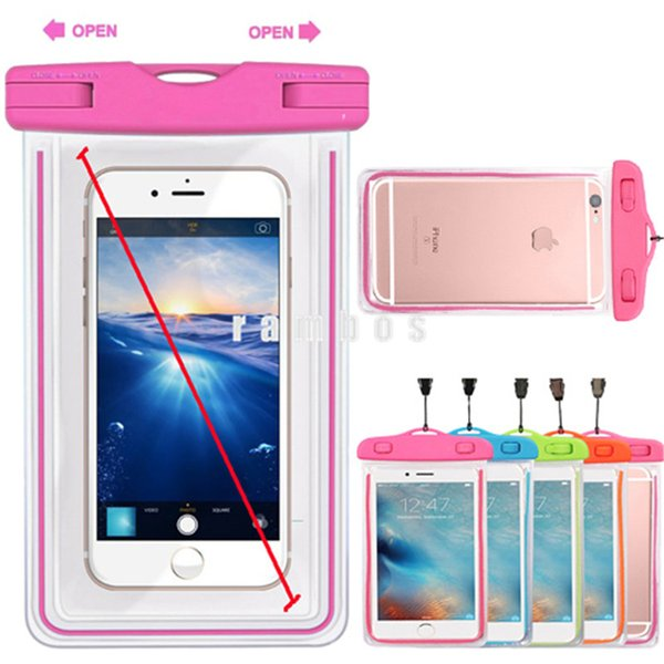 IP68 waterproof Cell Phone Pouch Case Transparent Diving Bag with Floating Wrist Strap for lenovo zuk z1 cover case