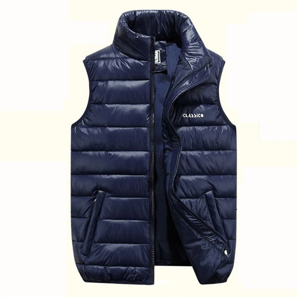 Autumn and Winter vest men designer coat jackets thickening down vest youth mens plus size casual down jacket winter coats for men