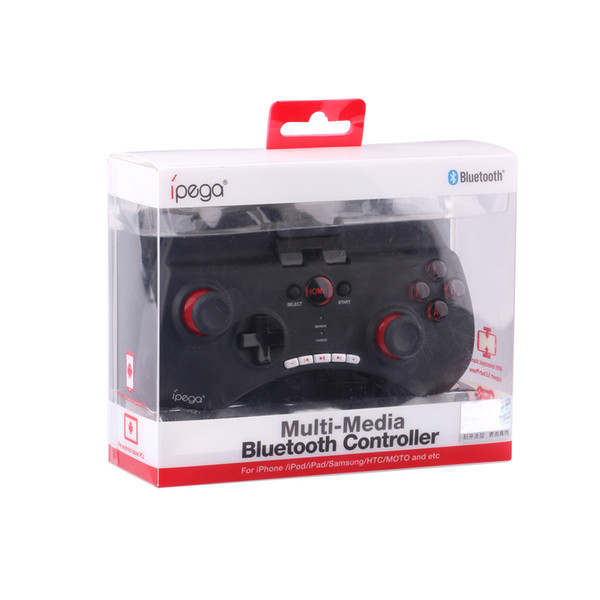 Quality Wireless iPega PG-9025 Bluetooth Game Controller For iPhone iPad Samsung Android Phone Black White DHL Free