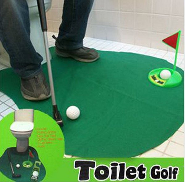 top popular New Arrivel exotic leisure sports good quality potty putter toilet golf game Mini golf set toilet golf putting green 2019