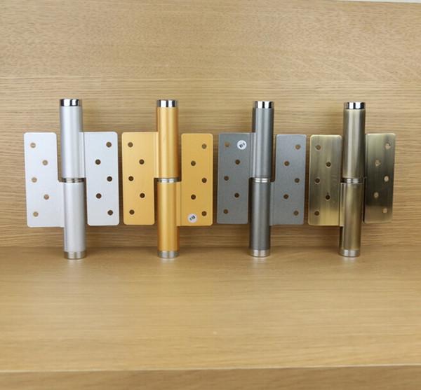 top popular 6 inch Invisible door aluminum alloy hydraulic pressure door hinge buffering positioning automatically closed door closer 002-11 2019