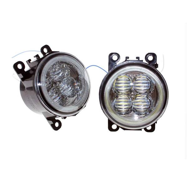 For Ford C-Max / Fusion 2013-2014 Car Styling Bumper Angel Eyes LED Fog Lamps DRL Daytime Running Fog Lights OCB Lens car light