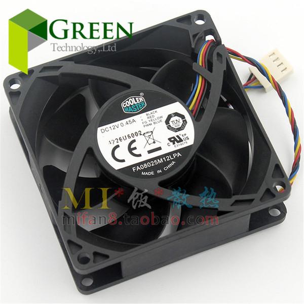 Toptan-Orijinal Cooler Master FA08025M12LPA 8025 80 MM 8 cm Bilgisayar kasası CPU Soğutma fanı 12 V 0.45A fan ile PWM 4pin