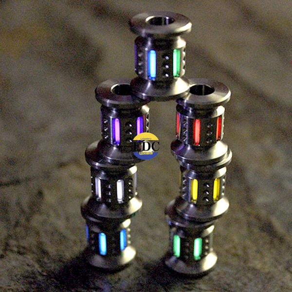 Открытый TC4 титановый тритий EDC светящаяся люминесцентная лампа флуоресценции растущий свет шнур нож бусина подвеска карманные Multi Tools