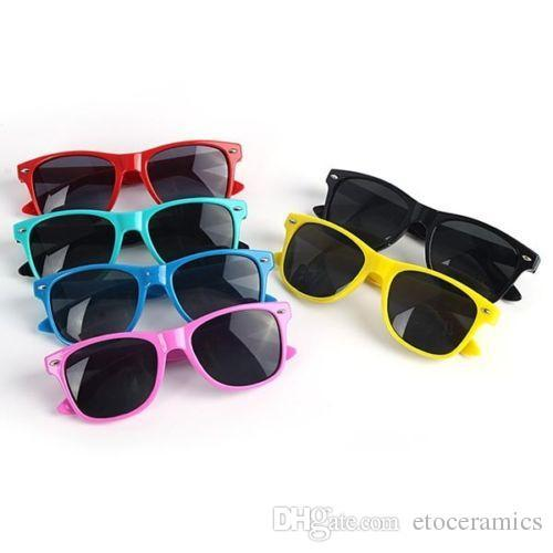 Kids Childrens Boys Retro Style UV400 Cute sports Sunglasses Black (Age 4-10) Factory Price mix differnt colors FREESHIPPING