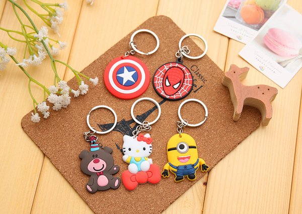 Pack Of 12pcs Novelty Item 8 Styles Adorable Animals Silicon Keychain Key Caps Covers Keys Case Shell Car Accessories Keychain E661E