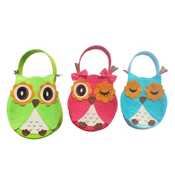 3pcs Cartoon owl 3 size Candy Gift hanging bag Cute For Chocolate christmas Party Decoration indoor decor