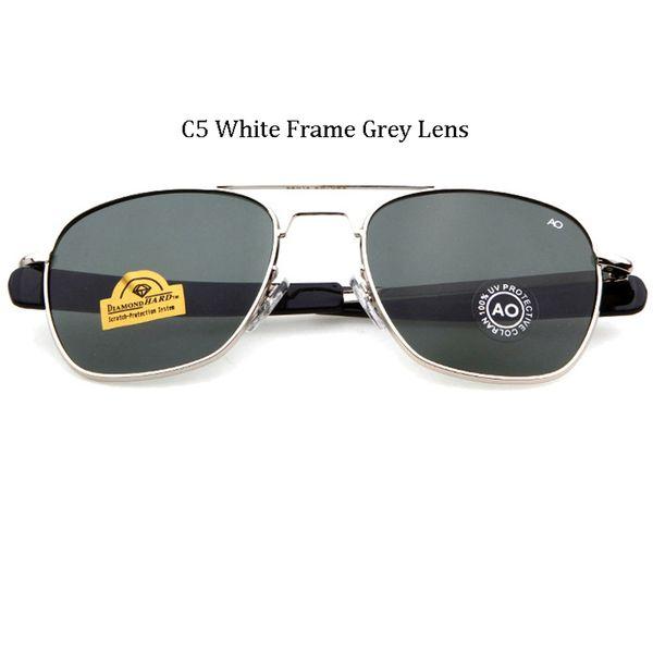C5 Cadre blanc Gris Lens