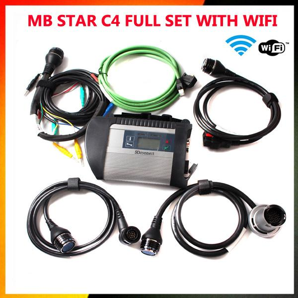Lowest PriceBest Quality SD Connect MB STAR C4 Star Compact with WIFI star c4 Multi-languages Professional Diagnostic Tool