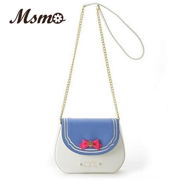 2016 New Summer Limited Sailor Moon Candy Chain Shoulder Bag Ladies PU Leather Handbag Women Messenger Crossbody Small Bag M24