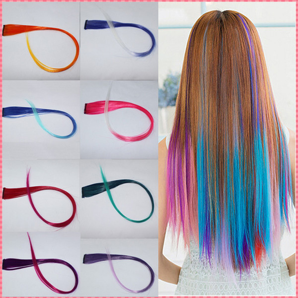 Ful Straight Clip In Synthetic Fiber Hair Extensions Hair Pieces Wig