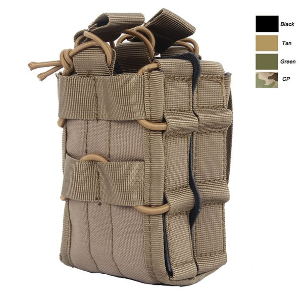 Outdoor Sports Tactical Backpack Vest Gear Accessory Mag Magazine Holder Cartridge Clip Tactical Double Magazine Pouch NO11-529