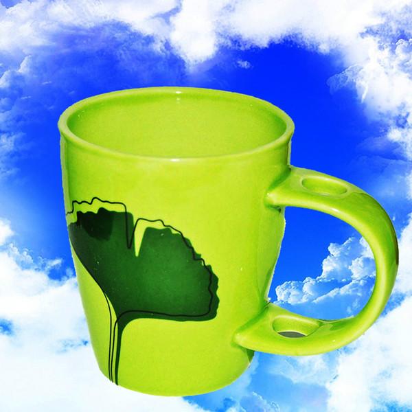 Ceramica di porcellana di alta qualità Tazza di ceramica verde Tazza di caffè Tazze di tè foglia 150 ml