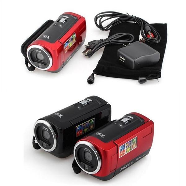Darbeye Dijital Kamera HD Kamera Taşınabilir Dijital Video Kamera HD 720 P 16 MP 2.4 '' TFT LCD Ekran 16x Zoom Kamera Kaydedici