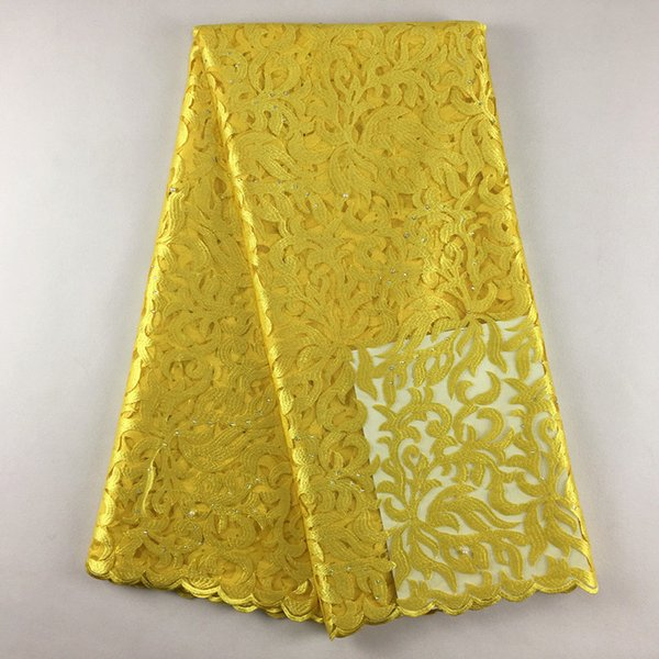 top popular African Swiss high quality Tulle Lace 011 Free Shipping African Wedding lace High Quality5yards Lot, 100% African Embroidery Fabric 2021