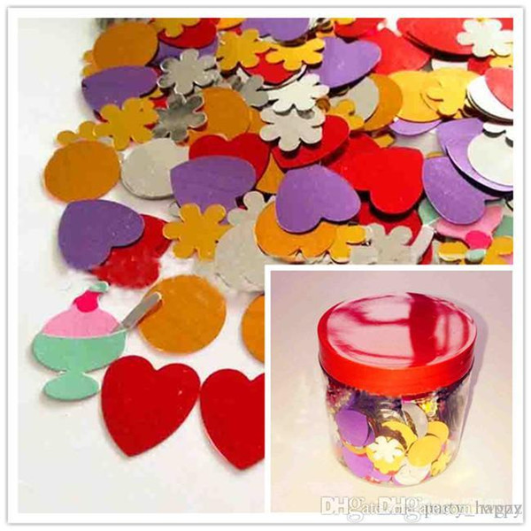 Holiday Decorations With Love Flower Sequins/Paper Mixed Combinations Wedding Party Venue Decorations Table Scatter Confetti A Variety