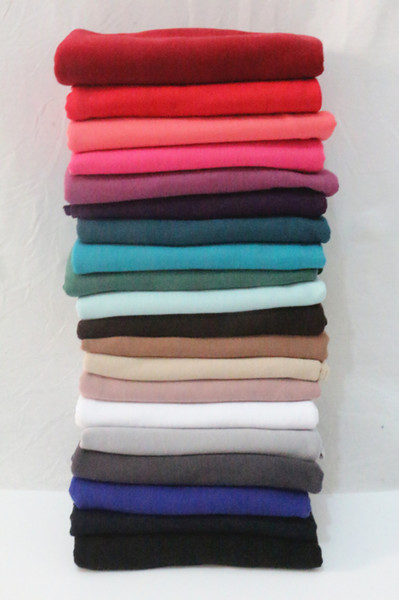 best selling Solid color fabric Ms Arab muslims in baotou headscarves Hui fabric scarf scarf 20 kinds of color