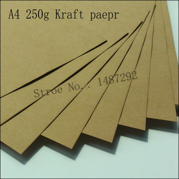 (Free shipping:20 pieces/Set) 250g Eco-friendly kraft paper,DIY scrapbooking paper,A4,Brown color, photo ablum paper,craft paper