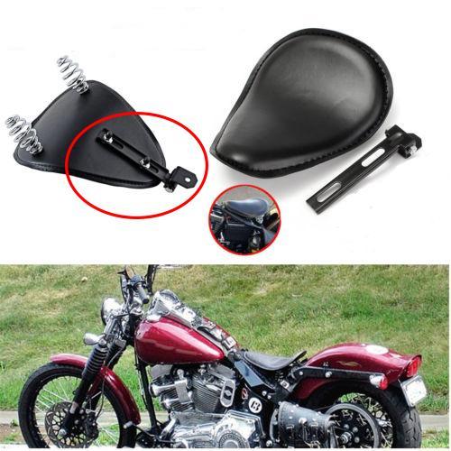Noir Moto Solo Siège Ressort Pivot Fixation Support Matériel De Fer Kit Adapté Pour Harley Chopper Bobber
