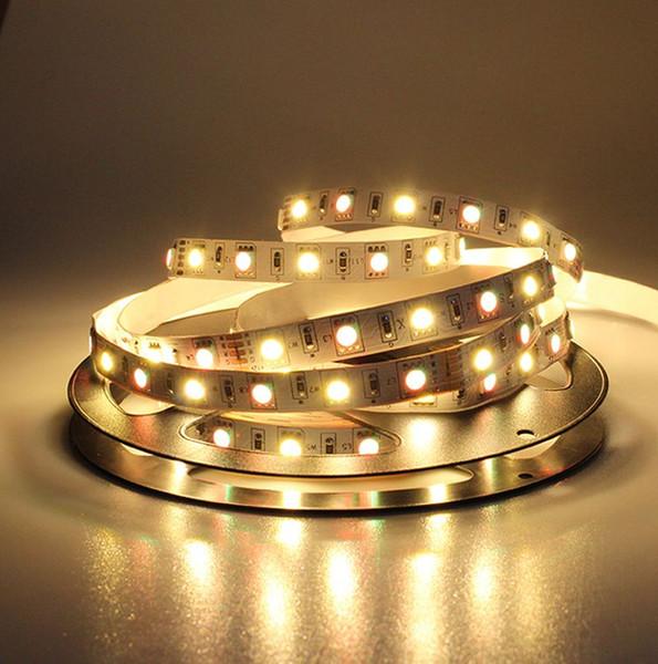 Süper parlaklık 16.4ft 5 M 5050 300 leds RGBW LED Şerit Işıklar RGB + Beyaz LED Esnek Işıklar Olmayan su geçirmez RGBW Aydınlatma