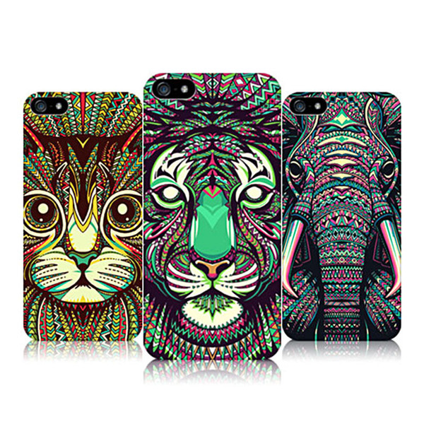 Luminous Animals Pattern Case For iphone 7 Lion Tiger Cheetah Wolf Protective Printing TPU Case For iphone 6s 7 Plus Forest King Cover