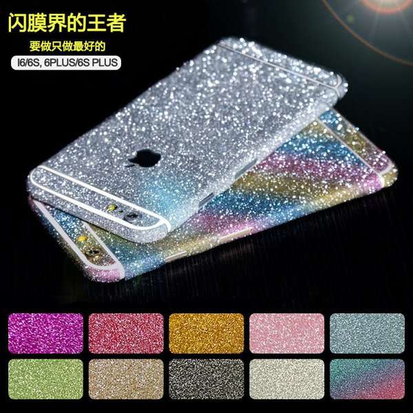 Luxury Glitter Decal Skins Stickers iphone 6/6s plus Cell case Stickers Full body Bling Crystal Diamond For iphone 4/4s iphone 5/5s