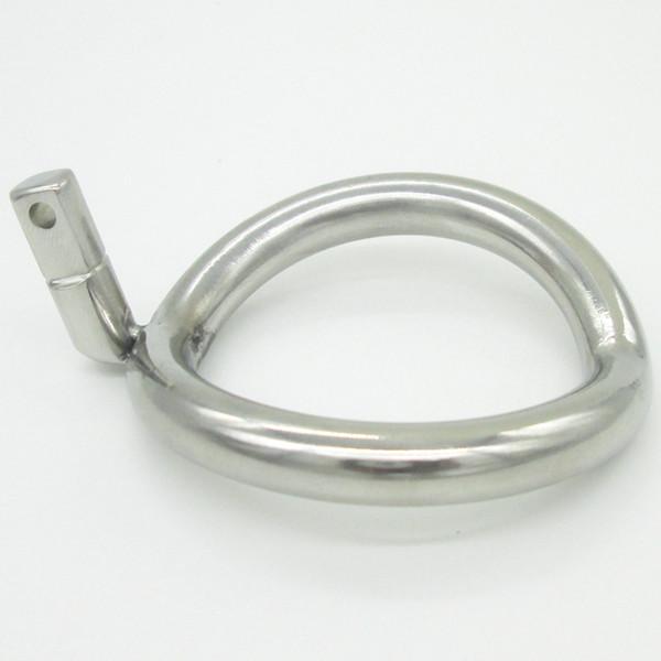 Anneau de dispositif de chasteté NOUVEAU Super petit en acier inoxydable Dispositif de chasteté masculine Cock Cages Anneau supplémentaire Cock Ring Taille Choisissez Adult Sex Toys