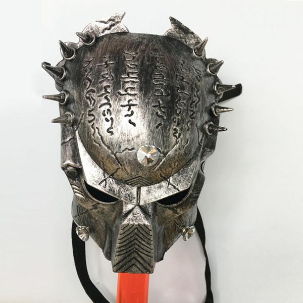 Masque de prédateur de gaz de silicone avec pipes à fumer en acrylique Conduite d'eau Bongs Plateforme pétrolière pour fumer pipes à eau Tubes à tabac Bubblers