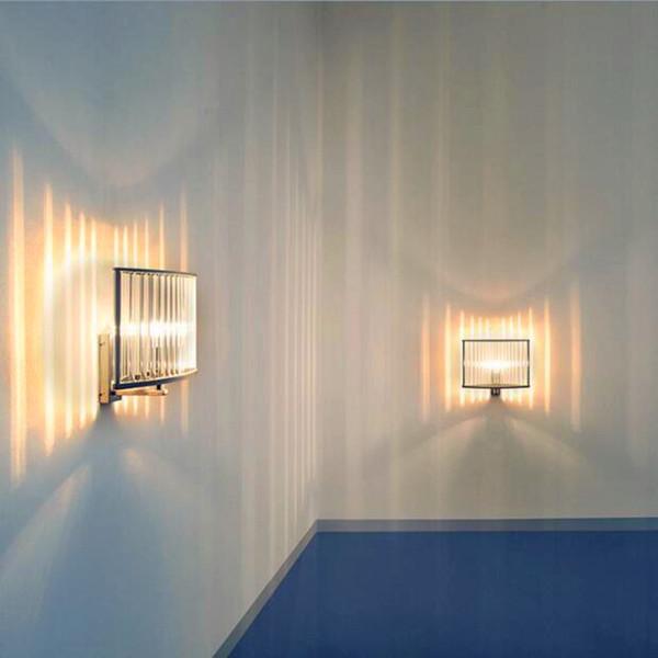 Creative modern minimalist living room bedroom hallway stairs hotel wall lamp LED bedside lamp