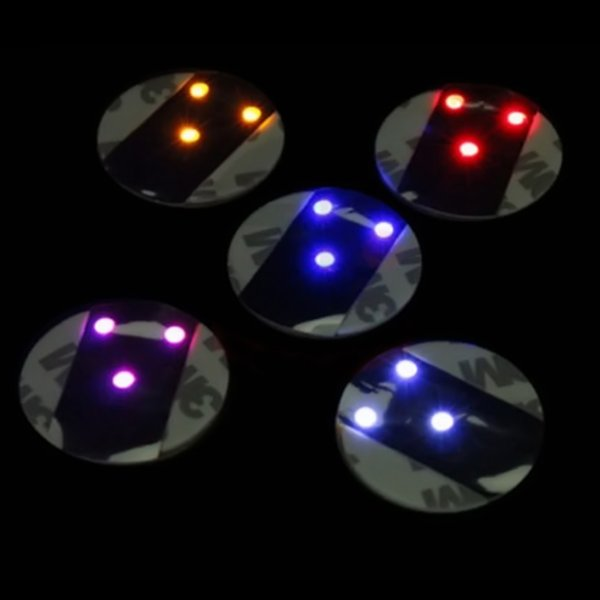 LED Coaster Flashing Light Bulb Bottle Cup Mat Color Changing Light Up For Club Bar Home Party Use