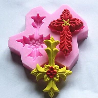 Double-cross Leaves Shaped Fondant Mold,Resin Clay Chocolate Candy Silicone Cake Mould,Fondant Cake Decorating Tools wholesaleTY1901