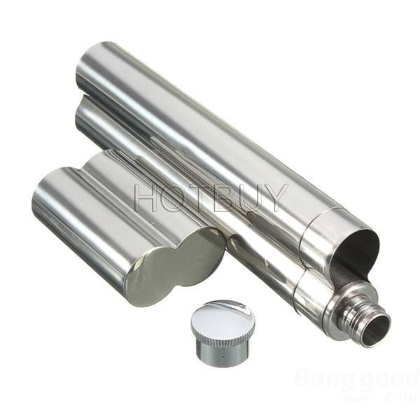 top popular Silver Stainless Steel Cigar Tube Tobacco Holder Smoke Travel Case Container #3789 2019