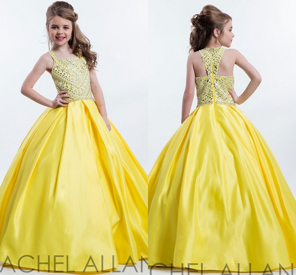 New Perfect Angels by Rachel Allan Square Neckline Pa Pageant Gown Custom Made Princess Ball Floor Length Kids Party Children Gift HY1148