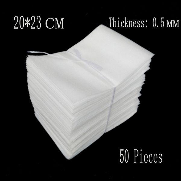 Al por mayor-20 * 23cm 0.5mm 50 Unids EPE Bolsas de Protección Embalaje Wrap Polietileno Tablero de Aislamiento Eva Foam Sheet Material de Acolchado Verpakking