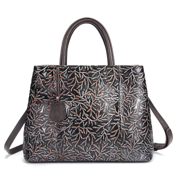 Hot Sale Fashion Vintage Handbags Brand Vintage carving Design Evening Bags high quality fashion Large capacity Leather Handbags for lady