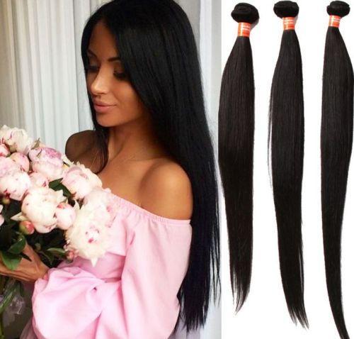 Grade 6A!!! brazilian Peruvian indian Malaysian Hair Extensions straight Double Weft No Shedding NO Tangle Durable 100g 4pcs dhl free
