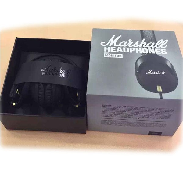 Marshall Monitor Headset Noise Cancelling Headphone Deep Bass Studio Rock DJ Hi-Fi Guitar Rock Earphones with mic New Hot